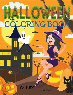Halloween Coloring Book for Kids: Fun Halloween Coloring Book for Preschoolers, Toddlers, Children (Age: Early - 5 Years)