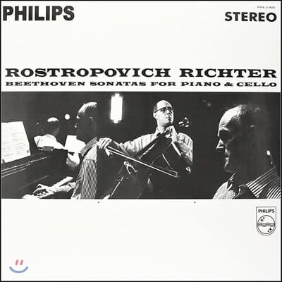 Mstislav Rostropovich / Sviatoslav Richter 베토벤: 첼로 소나타 (Beethoven Sonatas For Piano & Cello) [2LP]