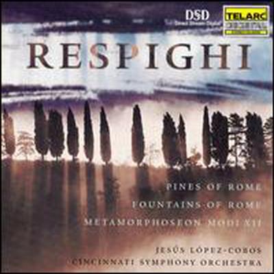레스피기 : 로마의 소나무, 로마의 분수, 메타모르포젠 모디 12 (Respighi: Pines of Rome, Fountains of Rome, Metamorphoseon Modi XII)(CD) - Jesus Lopez-Cobos