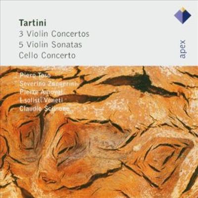 타르티니: 세 개의 바이올린 협주곡과 소나타, 첼로 협주곡 (Tartini: 3 Violin Concertos & 5 Violin Sonatas, Cello Concerto) (2CD) - Claudio Scimone