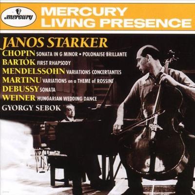 쇼팽, 드뷔시: 첼로 소나타 (Chopin, Debussy: Cello Sonatas) - Janos Starker