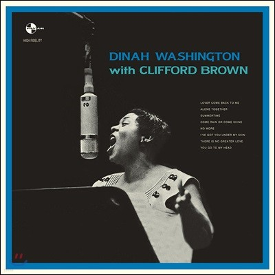 Dinah Washington (디나 워싱턴) - With Clifford Brown [LP]