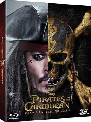 캐리비안의 해적: 죽은 자는 말이 없다 (2Disc 2D+3D Steelbook) : 블루레이
