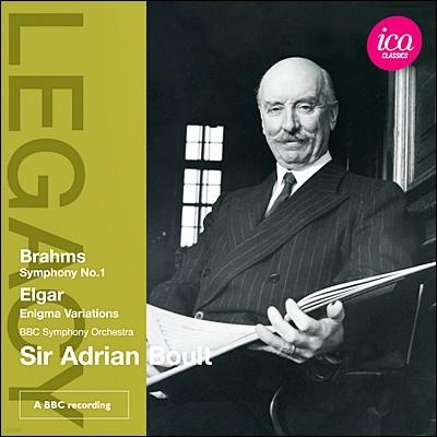 Adrian Boult 아드리안 볼트 레거시 - 브람스: 교향곡 1번 / 엘가: 수수께끼 변주곡 (Legacy - Brahms: Symphony Op.68 / Elgar: Enigma Variations)
