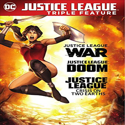Justice League: War / Doom / Crisis On 2 Earths (저스티스 리그 / 워 / 둠 / 크리시스 온 투 어스)(지역코드1)(한글무자막)(DVD)