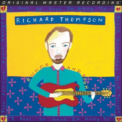 Richard Thompson (리처드 톰슨) - Rumor And Sigh [2LP]