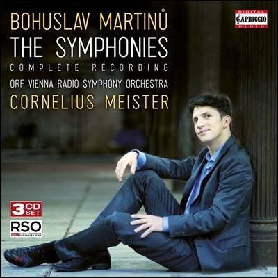 Cornelius Meister 마르티누: 교향곡 전곡 (Martinu: The Symphonie - Complete Recording)