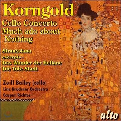 Zuill Bailey 코른골트: 첼로 협주곡, 헛소동 모음곡 (Korngold: Cello Concerto, Much ado about Nothing)