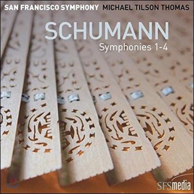 Michael Tilson Thomas 슈만: 교향곡 1-4번 전집 (Schumann: Symphonies Op.38, Op.61, Op.97 & Op.120)