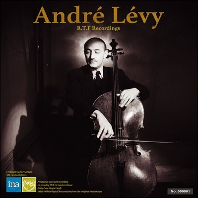 Andre Levy 앙드레 레비 첼로 소나타집 (R.T.F Recordings - Ravel / Honegger / Martinu) [LP]