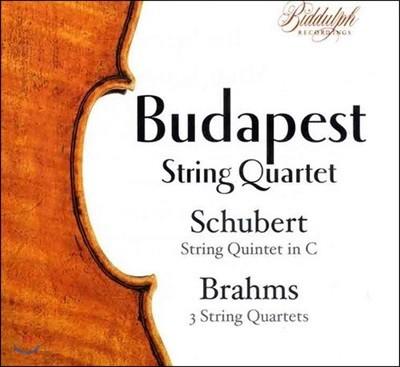 Budapest String Quartet 슈베르트: 현악 오중주 D.956 / 브람스: 현악 사중주 1-3번 (Schubert: String Quintet / Brahms: String Quartets)