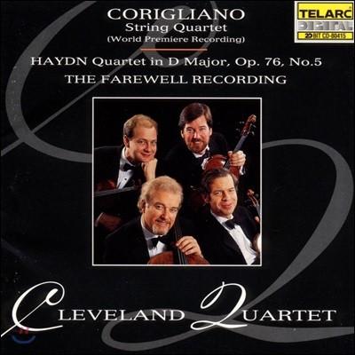 Cleveland Quartet 하이든: 현악 사중주 Op.76 No.5 / 코릴리아노: 현악 사중주 (The Farewell Recording - Corigliano / Haydn: String Quartets)