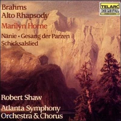 Robert Shaw 브람스: 알토 랩소디, 운명의 여신의 노래, 운명 (Brahms: Alto Rhapsody, Nanie, Gesang der Parzen, Schicksalslied)