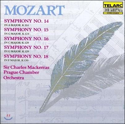 Charles Mackerras 모차르트: 교향곡 14, 15, 16, 17, 18번 (Mozart: Symphonies K.114, 124, 128, 129 & 130)