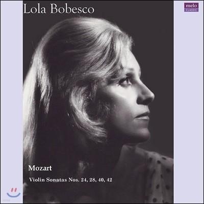 Lola Bobesco 모차르트: 바이올린 소나타 24, 28, 40, 42번 (Mozart: Violin Sonatas) [2LP]