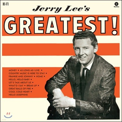 Jerry Lee Lewis (제리 리 루이스) - Jerry Lee's Greatest! [LP]