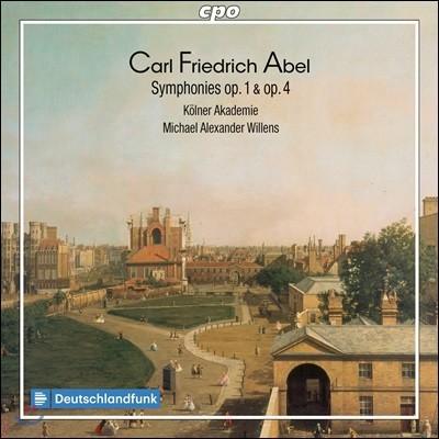 Michael Alexander Willens 아벨: 교향곡집 Op.1 & Op.4 (Carl Friedrich Abel: Symphonies)