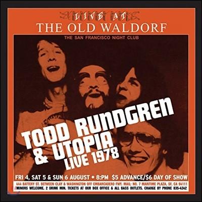 Todd Rundgren & Utopia (토드 룬드그렌 & 유토피아) - Live At The Old Waldorf [골드 컬러 2 LP]