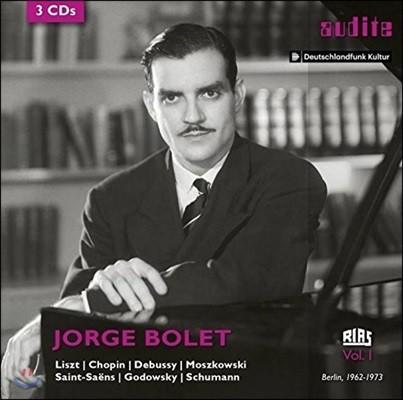 Jorge Bolet 호르헤 볼레 - RIAS 레코딩 1집: 리스트 / 쇼팽 / 드뷔시 / 생상스 외 (RIAS Recording Vol.1)