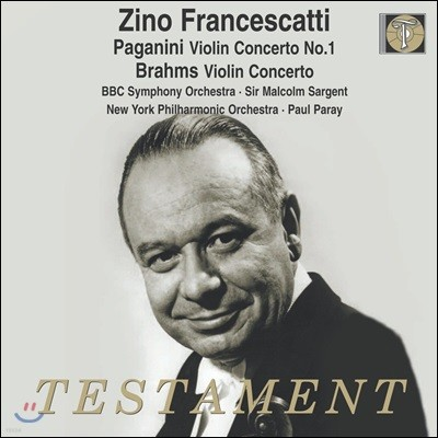 Zino Francescatti 파가니니: 바이올린 협주곡 1번 / 브람스: 바이올린 협주곡 (Paganini / Brahms: Violin Concertos)