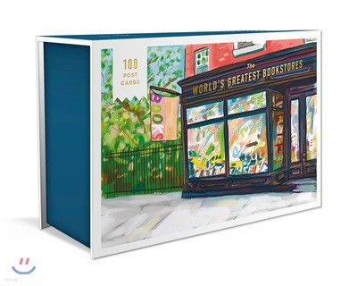 World's Greatest Bookstores 100 Postcards : 세계에서 가장 멋진 서점 일러스트 엽서 100장 박스 세트