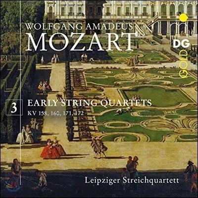 Leipziger Streichquartett 모차르트: 초기 현악 4중주 3집 - 5, 7, 11, 12번 (Mozart: Early String Quartets Vol.3)
