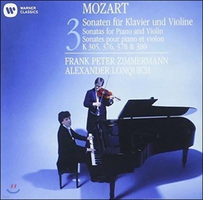 Frank Peter Zimmermann 모차르트: 바이올린 소나타 3집 K.305, 378, 380 & 376 (Mozart: Sonatas for Violin & Piano Vol.3)