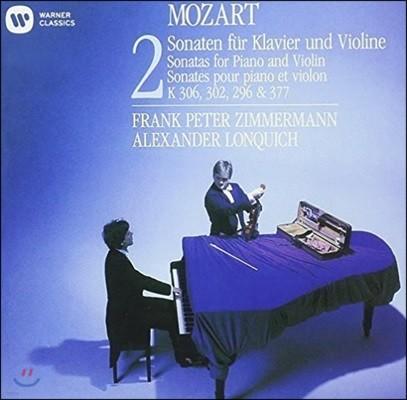 Frank Peter Zimmermann 모차르트: 바이올린 소나타 2집 K.306, 302, 296 & 377 (Mozart: Sonatas for Violin & Piano Vol.2)