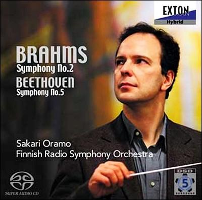 브람스 : 교향곡 2번 / 베토벤 : 교향곡 5번 - 사카리 오라모