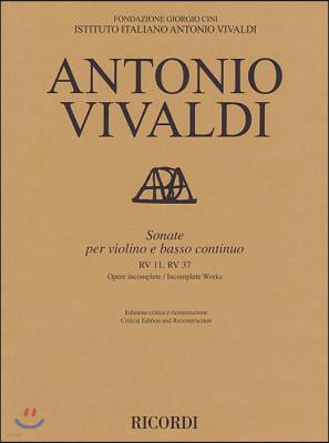 Sonate Violin and Basso Continuo Rv11, Rv37