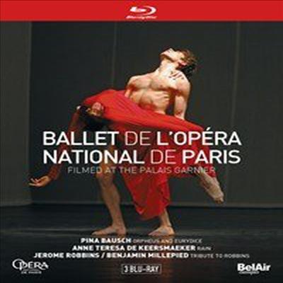 파리 오페라발레단의 가르니에 극장 3부작 (Ballet De L'Opera National De Paris) (3Blu-ray) (2017) - Filmed at The Palais Garnier