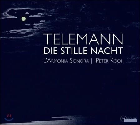 Peter Kooij 텔레만: 고요한 밤 - 베이스 독창 칸타타집 (Telemann: Die Stille Nacht - Cantatas)