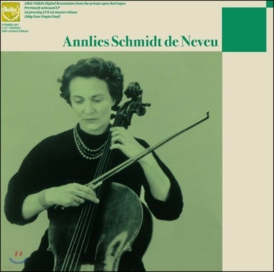 Annlies Schmidt de Neveu 안리스 슈미트 드 느뵈 미발표 녹음 1집 (Unissued Recordings Vol.1) [LP+CD]
