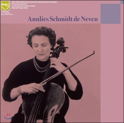 Annlies Schmidt de Neveu 안리스 슈미트 드 느뵈 미발표 녹음 2집 (Unissued Recordings Vol.2) [LP+CD]