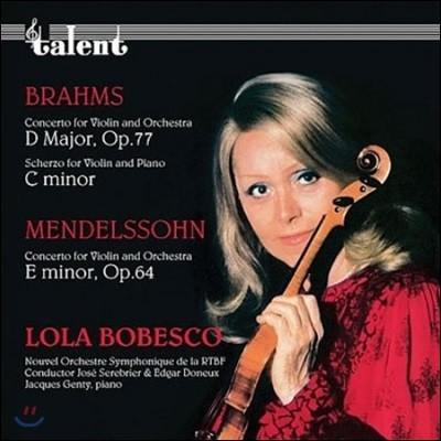 Lola Bobesco 브람스 / 멘델스존: 바이올린 협주곡 (Brahms / Mendelssohn: Violin Concertos)