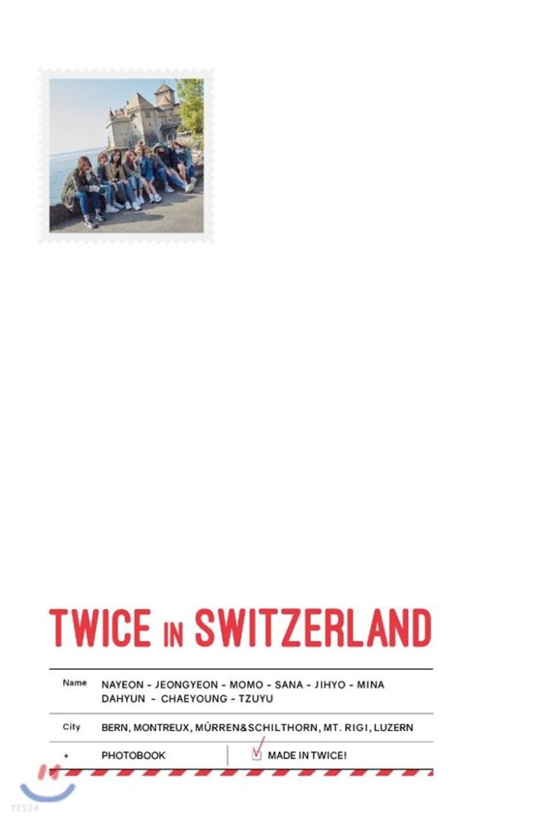 트와이스 (TWICE) - TWICE TV5 TWICE in Switzerland Photobook