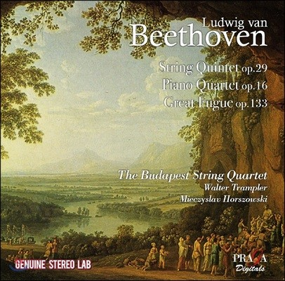Budapest String Quartet 베토벤: 현악 오중주, 피아노 사중주, 대 푸가 (Beethoven: String Quintet Op.29, Piano Quartet Op.16 & Great Fugue Op.133)