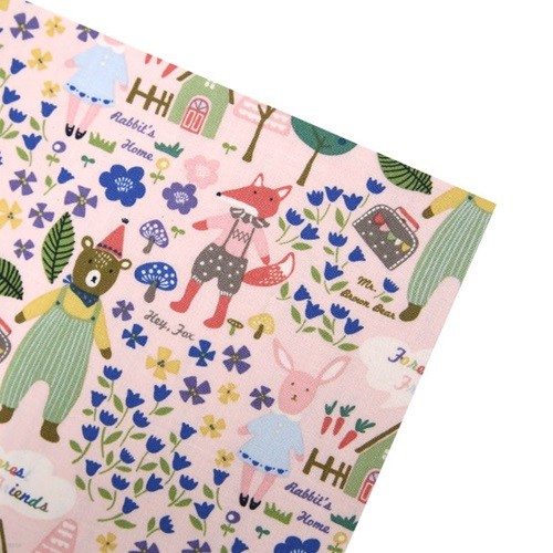 [펠트하우스] 동물의 숲_핑크 패브릭스티커