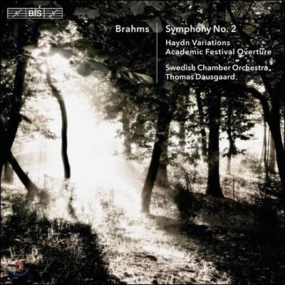 Thomas Dausgaard 브람스: 교향곡 2번, 하이든 주제에 의한 변주곡 Op.56a, 헝가리 무곡 6, 7, 5번, 대학 축전 서곡 (Brahms: Symphony, Haydn Variations)