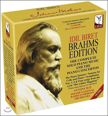 Idil Biret 이딜 비렛 - 브람스 에디션: 피아노 독주곡과 협주곡 전집 (Brahms Edition - Solo Piano Music & Piano Concertos)