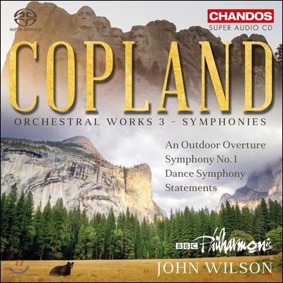 John Wilson 코플랜드: 관현악 작품 3집 - 교향곡 (Copland: Orchestral Works Vol. 3 - Symphonies)