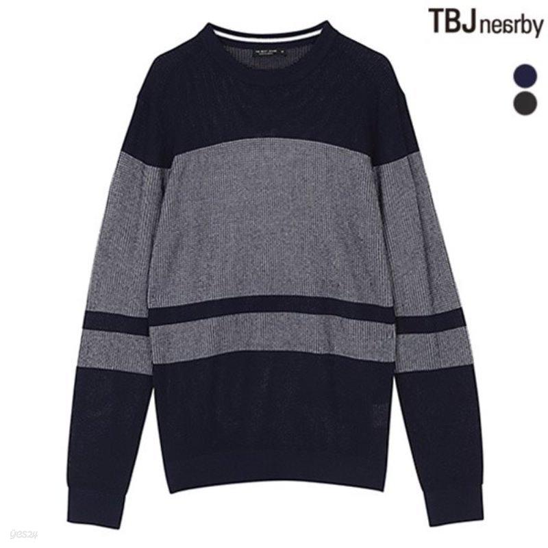 [TBJ]남성 조직변형 니트 풀오버(T181KT130P)