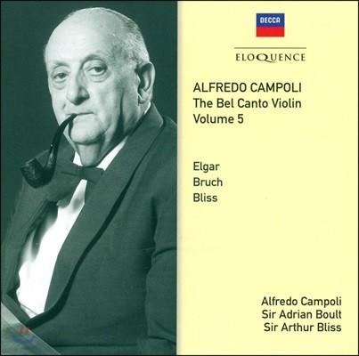 Alfredo Campoli 알프레도 캄폴리 벨 칸토 바이올린 5집 - 엘가 / 브루흐 / 블리스 (The Bel Canto Violin Vol.5)