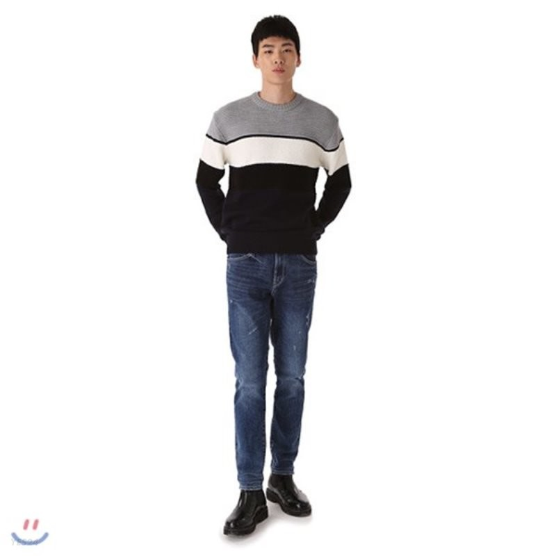 [TBJ]유니 테이퍼드 M 인디고 데님 -1(T185DP231M)
