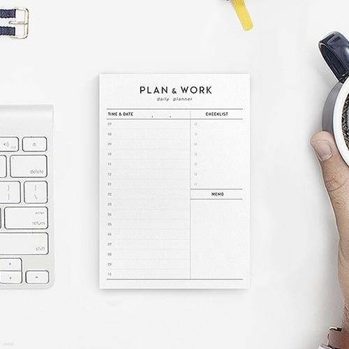 PLAN & WORK daily planner