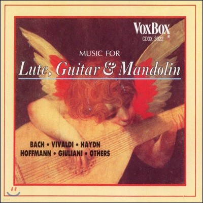 류트, 기타, 만돌린을 위한 음악 (Music For Lute, Guitar And Mandolin)