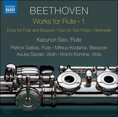 Kazunori Seo 베토벤: 플루트 작품 1집 - 플루트와 바순 이중주, 세레나데 외 (Beethoven: Works For Flute 1)