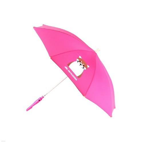 [SAFEGUARD] 세이프가드 아동용 LED 우산 너구리 분홍색