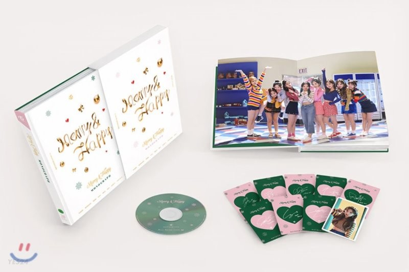 트와이스 (TWICE) - TWICE Merry & Happy Monograph [한정판]