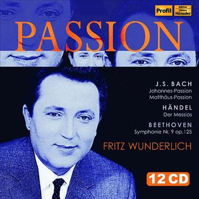 분덜리히의 열정 - 바흐, 헨델 & 베토벤 (Fritz Wunderlich Passion - Bach, Handel & Beethoven) (12CD Boxset) - Fritz Wunderlich